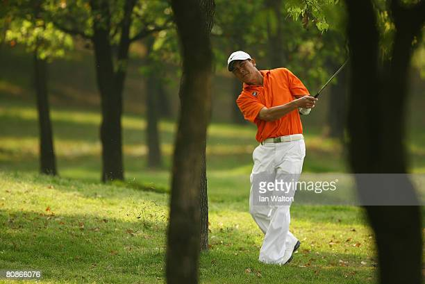 Lin Wen-tang in action during the 3rd round of the BMW Asian Open at the Tomson Shanghai Pudong Golf Club on April 26, 2008 in Shanghai, China.