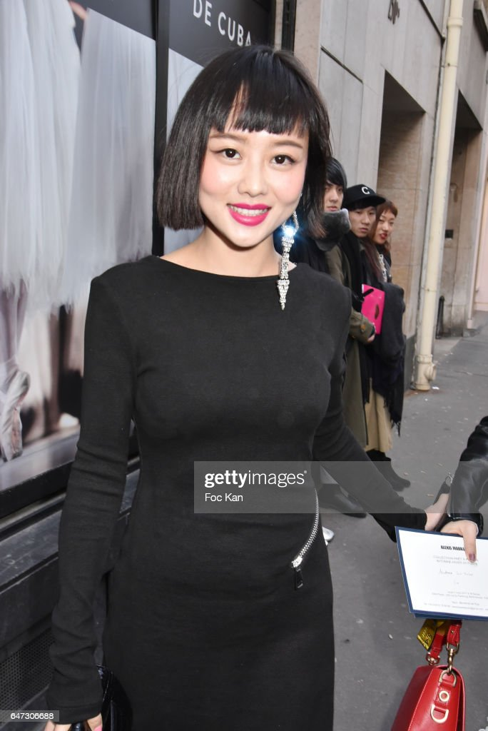Lin Xin Mei attends the Alexis Mabille show as part of the Paris Fashion Week Womenswear Fall/Winter 2017/2018 on March 2, 2017 in Paris, France.