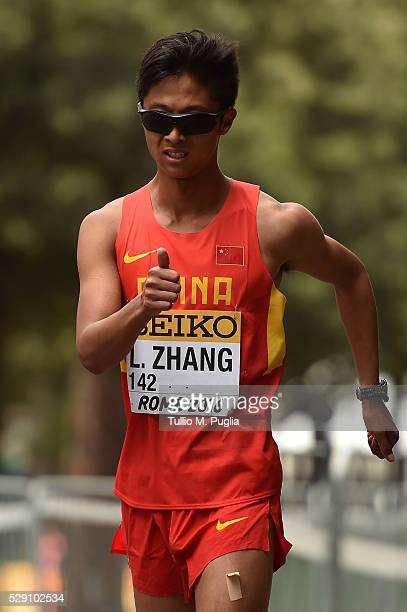 Lin Zhang in action during the 50KM Race Walk at IAAF Race Walking Team Campionship Rome 2016 on May 7 2016 in Rome Italy