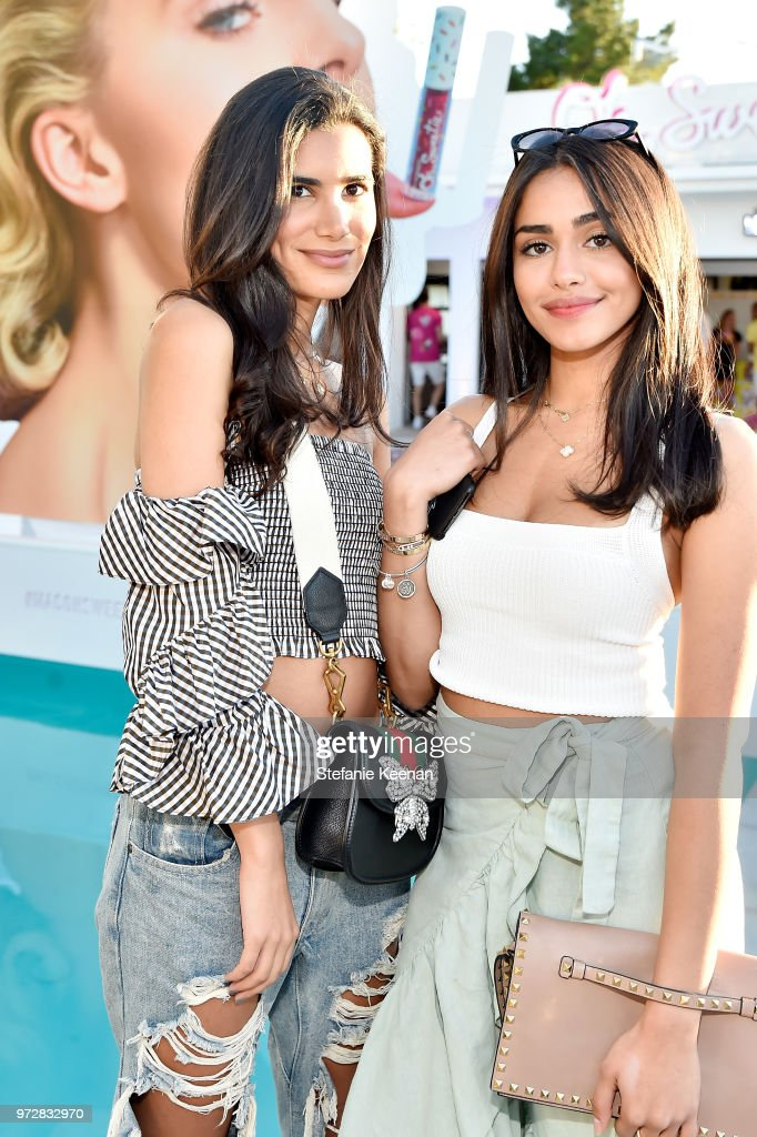 Lina Assayed (L) and Reem Alsanea attend MAC Cosmetics Oh Sweetie Lipcolour Launch Party in Beverly Hills on June 12, 2018 in Beverly Hills, California.