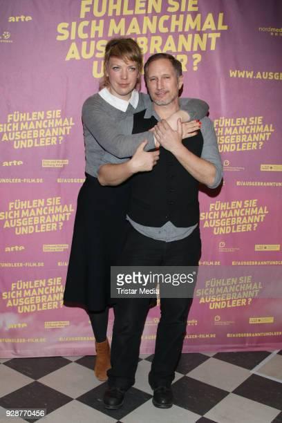 Lina Beckmann and Benno Fuermann attend the premiere 'Fühelen Sie sich manchmal ausgebrannt und leer' at Abaton Kino on March 7 2018 in Hamburg...
