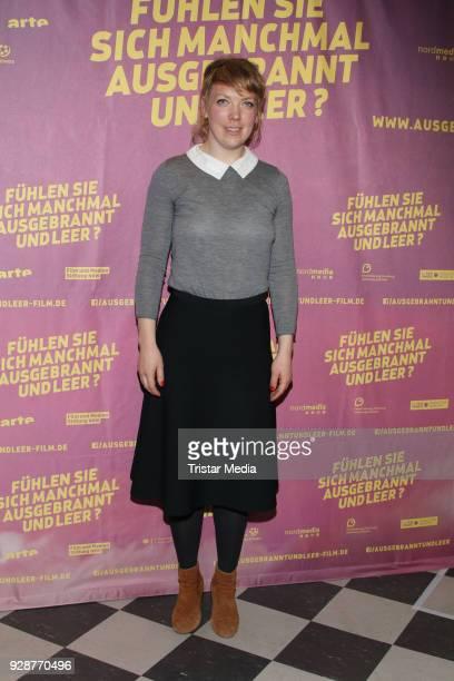 Lina Beckmann attends the premiere 'Fühelen Sie sich manchmal ausgebrannt und leer' at Abaton Kino on March 7 2018 in Hamburg Germany