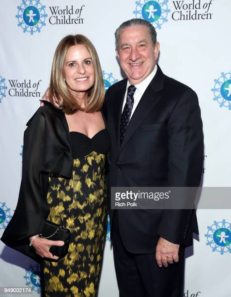 Lina Beltran and John Paul Beltran attend the 2018 World of Children Hero Awards Benefit at Montage Beverly Hills on April 19 2018 in Beverly Hills...