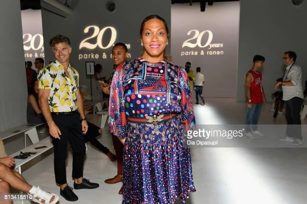 Lina Bradford attends the Parke Ronen Spring 2018 show on July 12 2017 in New York City