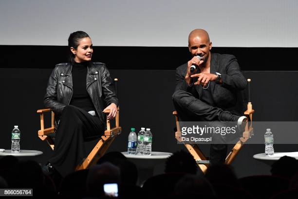 Lina Esco and Shemar Moore attend the New York Television Festival primetime world premiere of S.W.A.T. At SVA Theatre on October 24, 2017 in New...