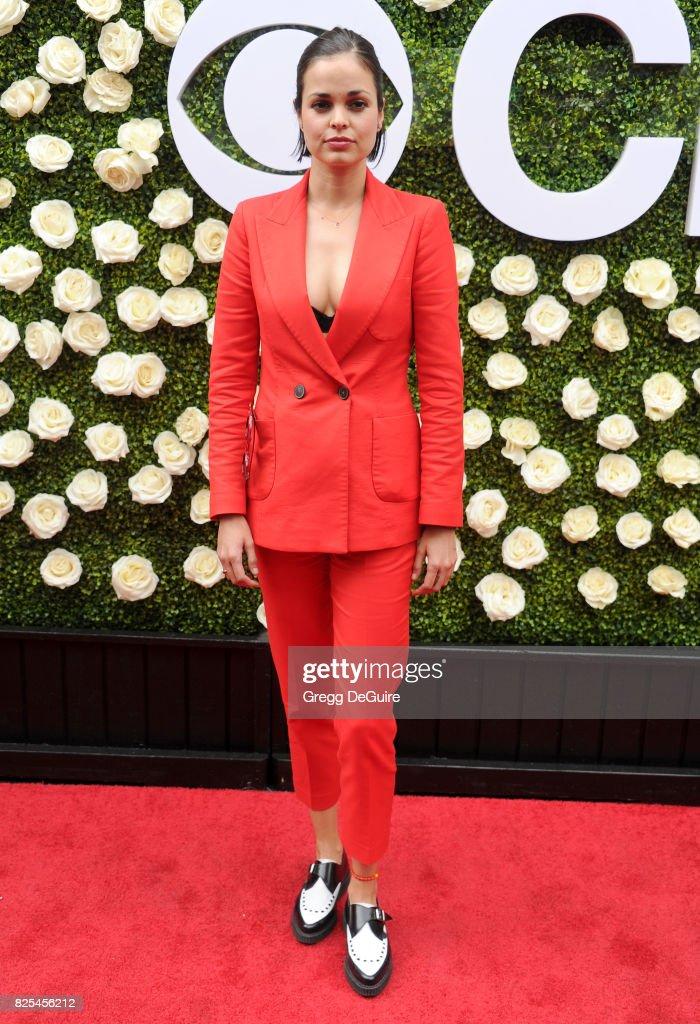Lina Esco arrives at the 2017 Summer TCA Tour - CBS Television Studios' Summer Soiree at CBS Studios - Radford on August 1, 2017 in Studio City, California.