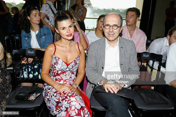 Lina Gameiro and JeanMarc Loubier attend the Georges Hobeika Haute Couture Fall Winter 2018/2019 show as part of Paris Fashion Week on July 2 2018 in...