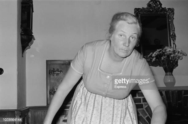 Lina Heydrich, wife of SS-Obergruppenführer Reinhard Heydrich, 10th August 1965.