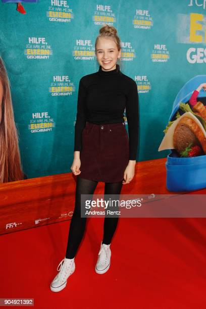 Lina Hueesker attends the premiere of 'Hilfe ich hab meine Eltern geschrumpft' at Cinedom on January 14 2018 in Cologne Germany