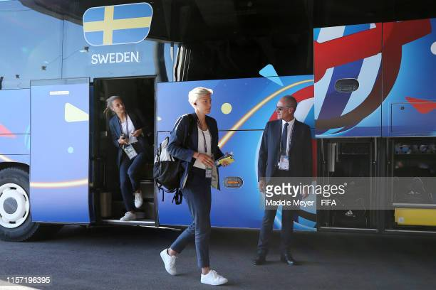 Lina Hurtig of Sweden arrives at the stadium prior to the 2019 FIFA Women's World Cup France group F match between Sweden and USA at on June 20 2019...