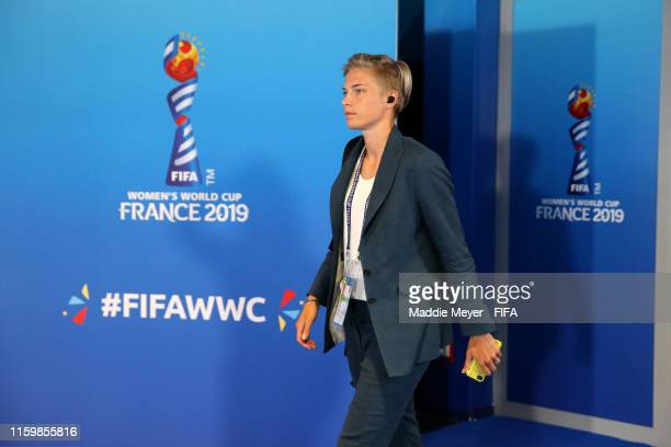 Lina Hurtig of Sweden arrives at the stadium prior to the 2019 FIFA Women's World Cup France Semi Final match between Netherlands and Sweden at Stade...