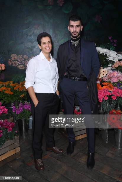 Lina Khalifeh and Shahmir Sanni attend the gala dinner in honour of Edward Enninful winner of the Global VOICES Award 2019 during #BoFVOICES on...