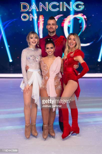 Lina Larissa Strahl Amani Fancy Eric Stehfest and Stina Martini pose during the 5th show of the TVSeries Dancing on Ice on December 06 2019 in...