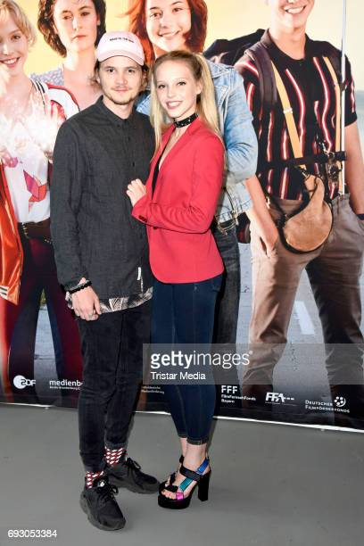 Lina Larissa Strahl and her boyfriend Tilman Poerzgen attend the Bibi and Tina Photo Call and Award Reception at Atelier on June 6 2017 in Berlin...