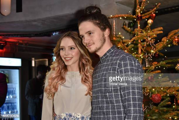 Lina Larissa Strahl and her boyfriend Tilman Poerzgen during the Medienboard PreChristmas Party at Schwuz at Saeaelchen on December 7 2017 in Berlin...