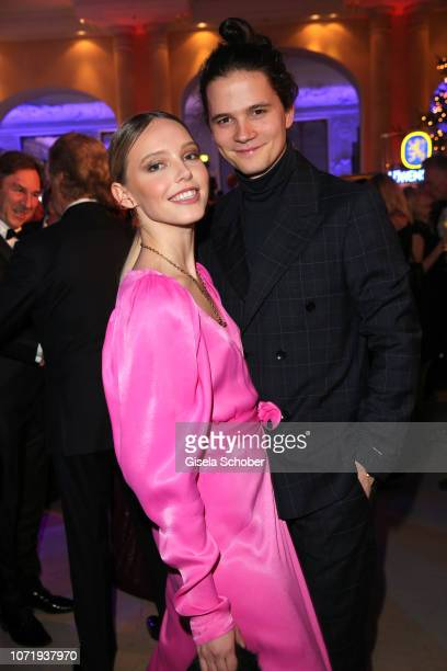 Lina Larissa Strahl and her boyfriend Tilmann Poerzgen during the Audi Generation Award 2018 at Hotel Bayerischer Hof on December 11 2018 in Munich...