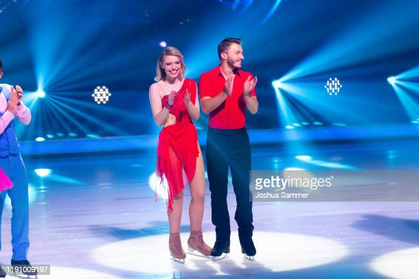 Lina Larissa Strahl and Joti Polizoakis during the 4th show of the TVSeries Dancing on Ice on November 29 2019 in Cologne Germany