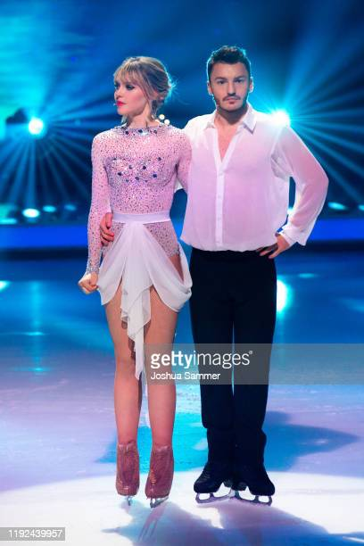 Lina Larissa Strahl and Joti Polizoakis during the 5th show of the TVSeries Dancing on Ice on December 06 2019 in Cologne Germany
