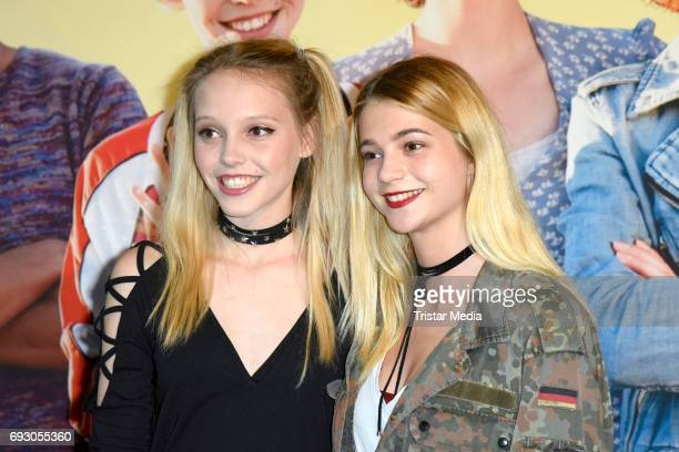 Lina Larissa Strahl and LisaMarie Koroll attend the Bibi and Tina Photo Call and Award Reception at Atelier on June 6 2017 in Berlin Germany