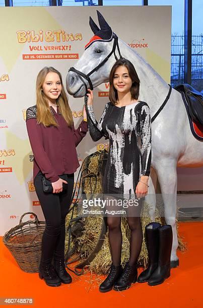 Lina Larissa Strahl and LisaMarie Koroll attend the Hamburg premiere of the film 'Bibi Tina Voll verhext' at Cinemaxx on December 21 2014 in Hamburg...