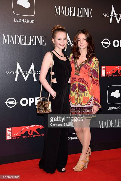 Lina Larissa Strahl and LisaMarie Koroll attend the New Faces Award Film 2015 at ewerk on June 18 2015 in Berlin Germany