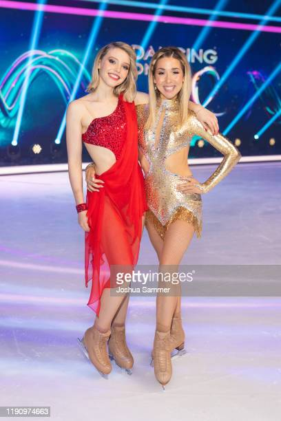 Lina Larissa Strahl and Stina Martini are seen during the 4th show of the TVSeries Dancing on Ice on November 29 2019 in Cologne Germany