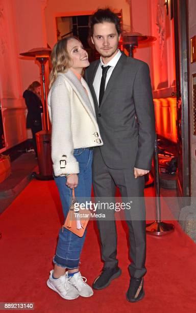 Lina Larissa Strahl and Tilman Poerzgen attend the Ein Herz Fuer Kinder Gala 2017 After Show Party at Borchardt Restaurant on December 9 2017 in...