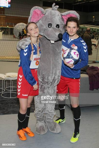 Lina Larissa Strahl and Tilmann Poerzgen during 'Kicken Mit Herz' on December 3 2017 in Hamburg Germany