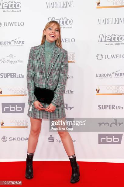 Lina Larissa Strahl attends the Goldene Henne on September 28 2018 in Leipzig Germany