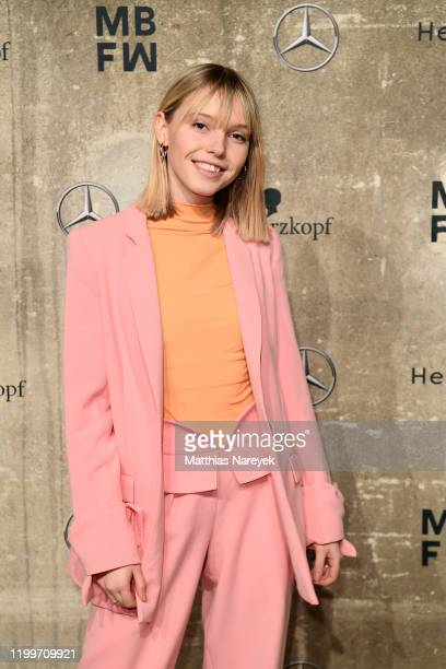 Lina Larissa Strahl attends the KXXK show during Berlin Fashion Week Autumn/Winter 2020 at Kraftwerk Mitte on January 15 2020 in Berlin Germany