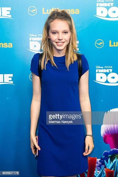 Lina Larissa Strahl during the German premiere of the film 'Finding Dory' at Zoo Palast on September 15 2016 in Berlin Germany