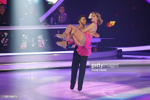 Lina Larissa Strahl Joti Polizoakis during the 2nd SAT1 Live TV show 'Dancing on Ice' at MMC TV Studios on November 17 2019 in Cologne Germany