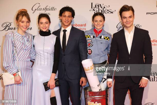 Lina Larissa Strahl LisaMarie Koroll Emilio Sakraya Lea van Aacken and Louis Held attend the Medienboard BerlinBrandenburg Arrivals during the 68th...