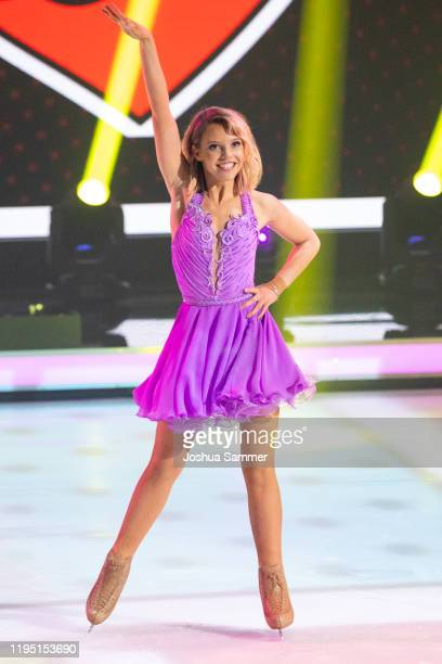 Lina Larissa Strahl performs during the finals of the television show Dancing On Ice on December 20 2019 in Cologne Germany