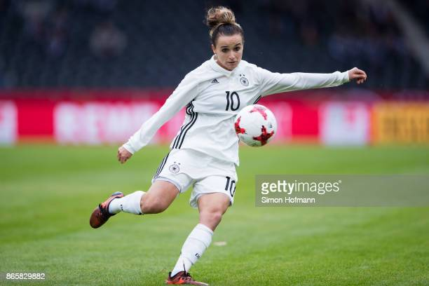 Lina Magull of Germany controls the ball during the 2019 FIFA Women's World Championship Qualifier match between Germany and Faroe Islands at...