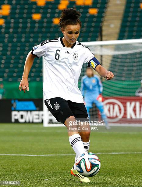 Lina Magull of Germany in action during the FIFA U20 Women's World Cup Canada 2014 match between China PR and Germany at Commonwealth Stadium on...