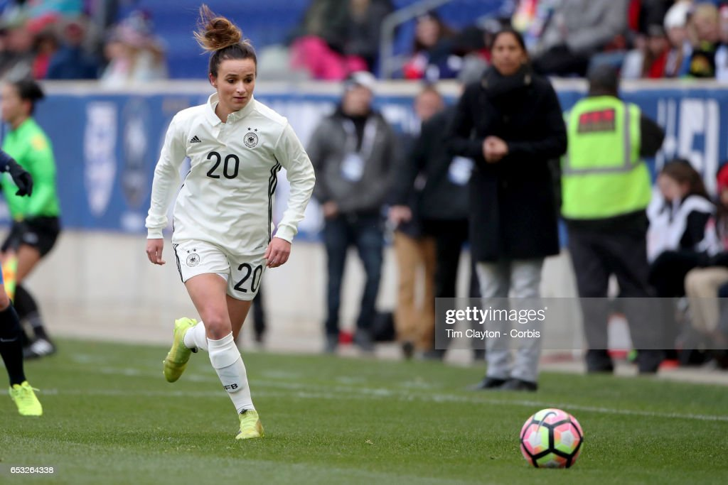 Lina Magull #20 of Germany in action during the France Vs Germany SheBelieves Cup International match at Red Bull Arena on March 4, 2017 in Harrison, New Jersey.