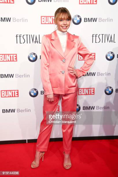 Lina Marissa Stahl attends the BUNTE BMW Festival Night on the occasion of the 68th Berlinale International Film Festival Berlin at Restaurant...