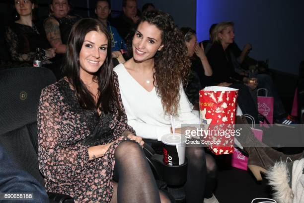Lina Meyer girlfriend of FC Bayern soccer player Josua Kimmich and blogger Nadine Menz during the 'Dieses bescheuerte Herz' premiere at Mathaeser...
