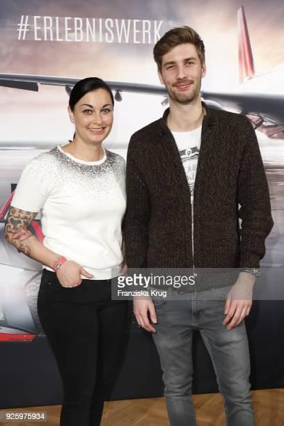 Lina van de Mars and Ferdinand Stuck during the mydays Erlebniswerk opening on March 1 2018 in Berlin Germany