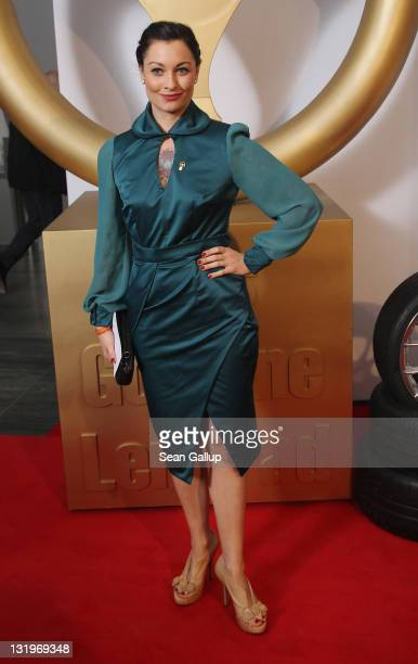 """Lina van de Mars attends """"Das Goldene Lenkrad 2011"""" Awards at Axel-Springer Haus on November 9, 2011 in Berlin, Germany."""