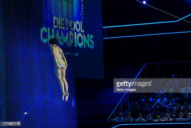 Lina van de Mars attends the 1st live show of 'Pool Champions' on June 21 2013 in Berlin Germany