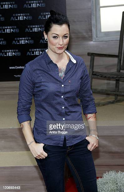 Lina van de Mars attends the 'Cowboys Aliens' premiere at the Cinestar movie theater on August 8 2011 in Berlin Germany