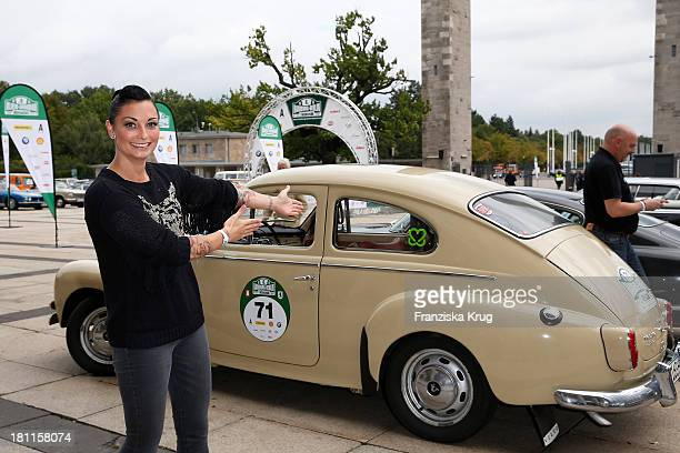 Lina van de Mars attends the Hamburg-Berlin Klassik Rallye 2013 - Day 1 on September 19, 2013 in Berlin, Germany.