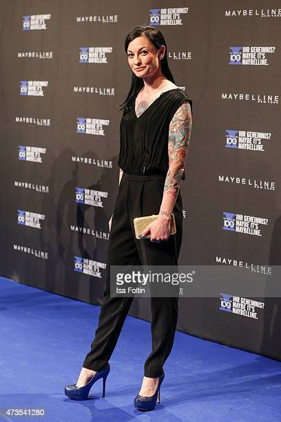 Lina van de Mars attends the Maybelline 100th anniversary celebrations on May 15 2015 in Berlin Germany