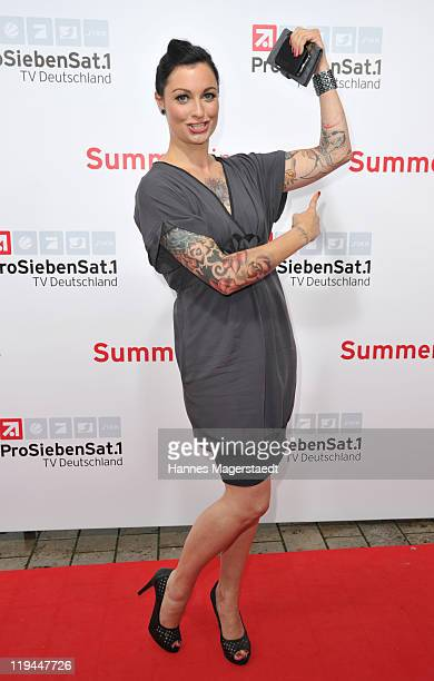 Lina van de Mars attends the ProSiebenSat 1 Summertime at Alte Kongresshalle on July 20, 2011 in Munich, Germany.