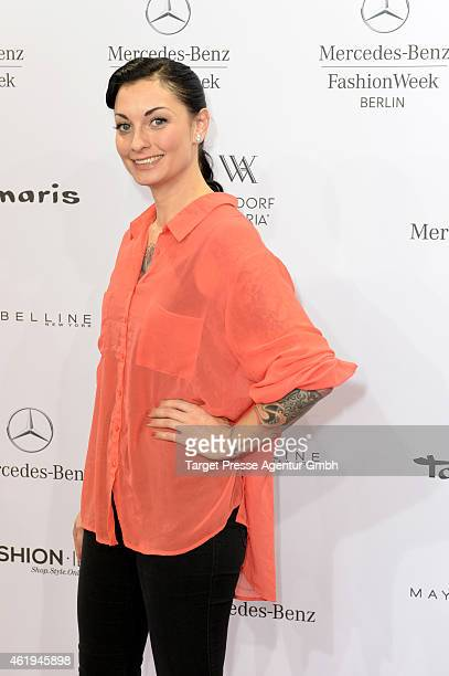 Lina van de Mars attends the Studio 30PH show during the MercedesBenz Fashion Week Berlin Autumn/Winter 2015/16 at Brandenburg Gate on January 22...