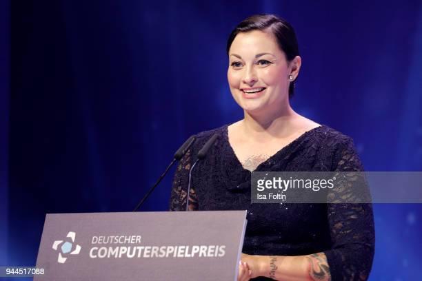 Lina van de Mars during the German Computer Games Award 2018 at Kesselhaus on April 10 2018 in Munich Germany