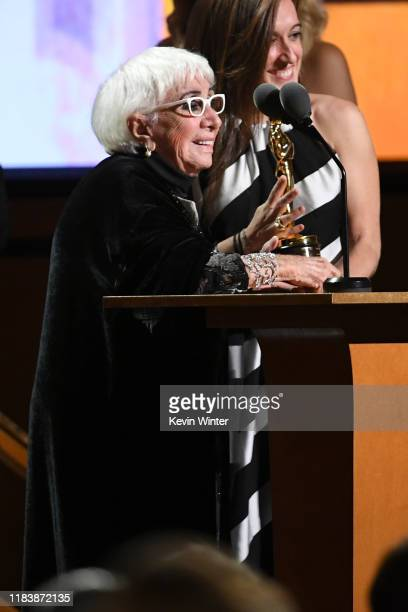 Lina Wertmüller speaks onstage during the Academy Of Motion Picture Arts And Sciences' 11th Annual Governors Awards at The Ray Dolby Ballroom at...