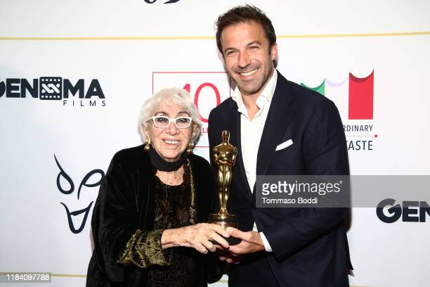 Lina Wertmuller and Alessandro Del Piero attend the Lina Wertmuller True Italian Taste Gala Reception Dinner CoHosted By The ItalyAmerica Chamber Of...